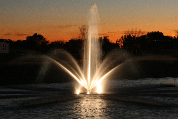lighted fountain